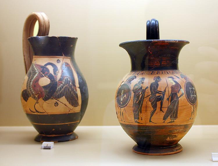 Cer mica griega en el museo del agora de atenas - Fotos de ceramica ...