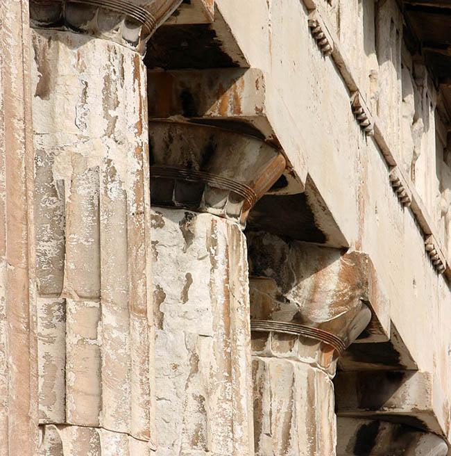 Columnas dóricas en el Partenón