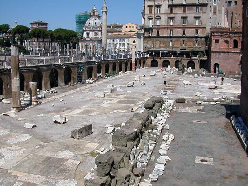 Roma. Foros imperiales. Mercado de Trajano
