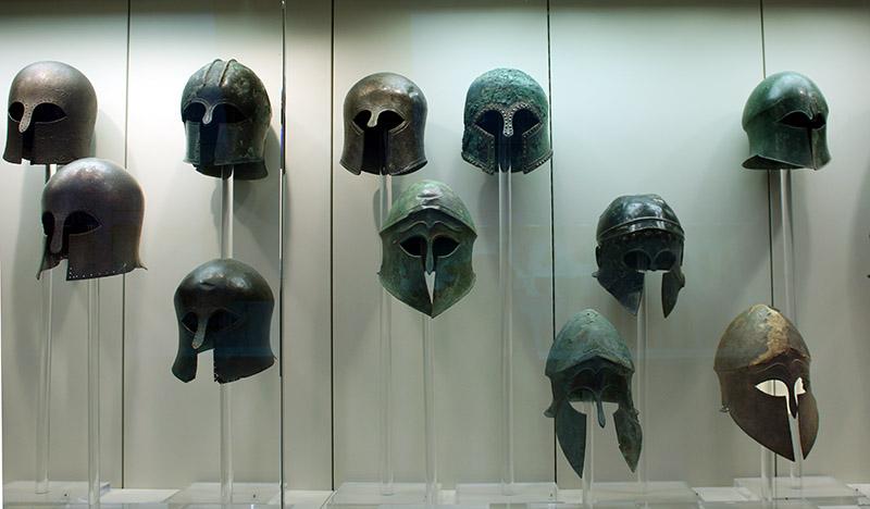 Real Spartan Helmet Museum Cascos corintios de br...