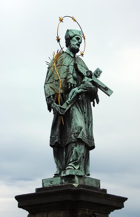 San Juan Nepomuceno en el puente de Carlos. Praga