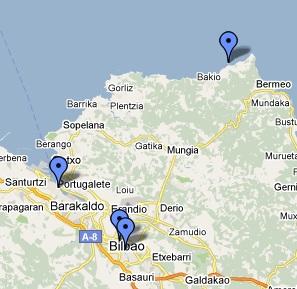 Mapa De Vizcaya Costa.Fotos De Vizcaya Viaje De Dos Dias